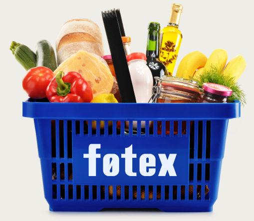 Indkøbskurv med varer